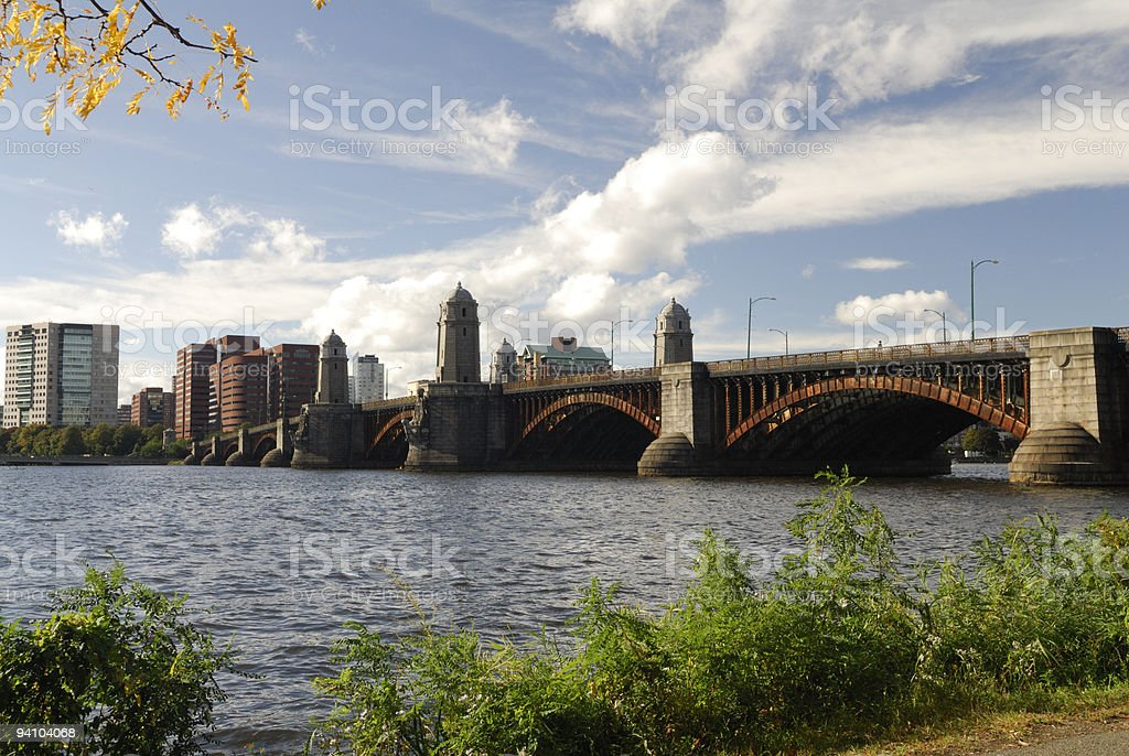 Longfellow Bridge, Boston royalty-free stock photo