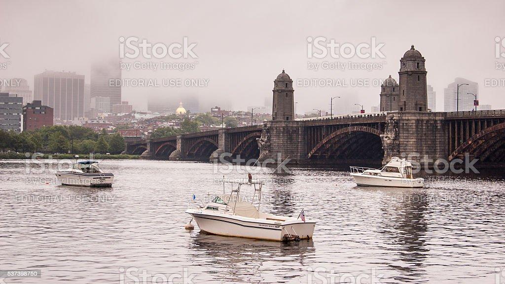 Longfellow Bridge stock photo