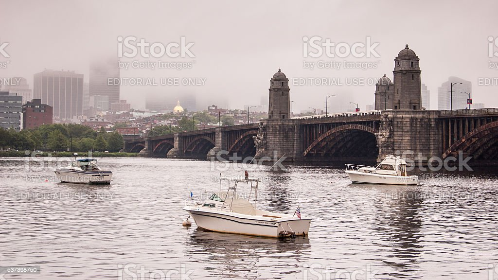 Longfellow Bridge stock photo