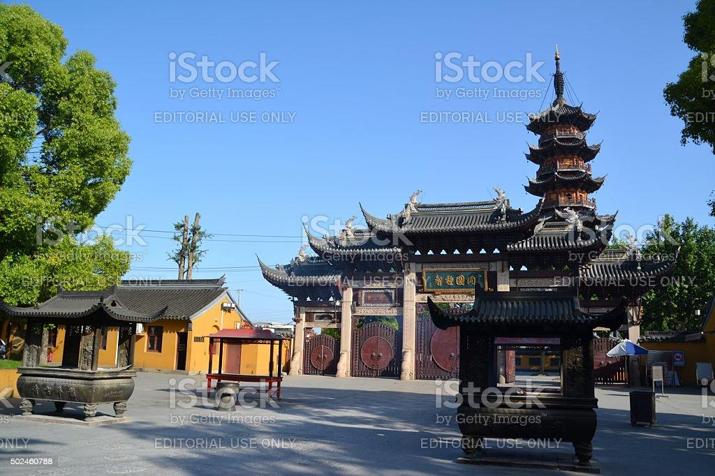 Longhua temple, Shanghai China stock photo