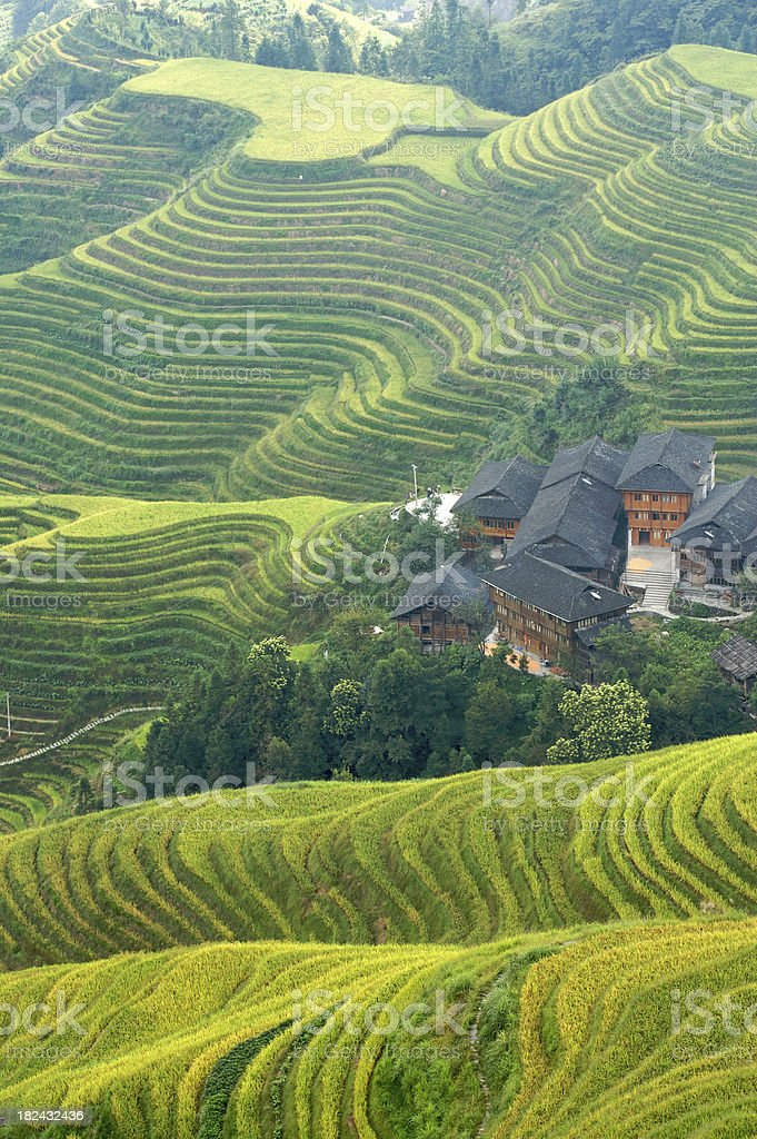 Longji Village in China stock photo