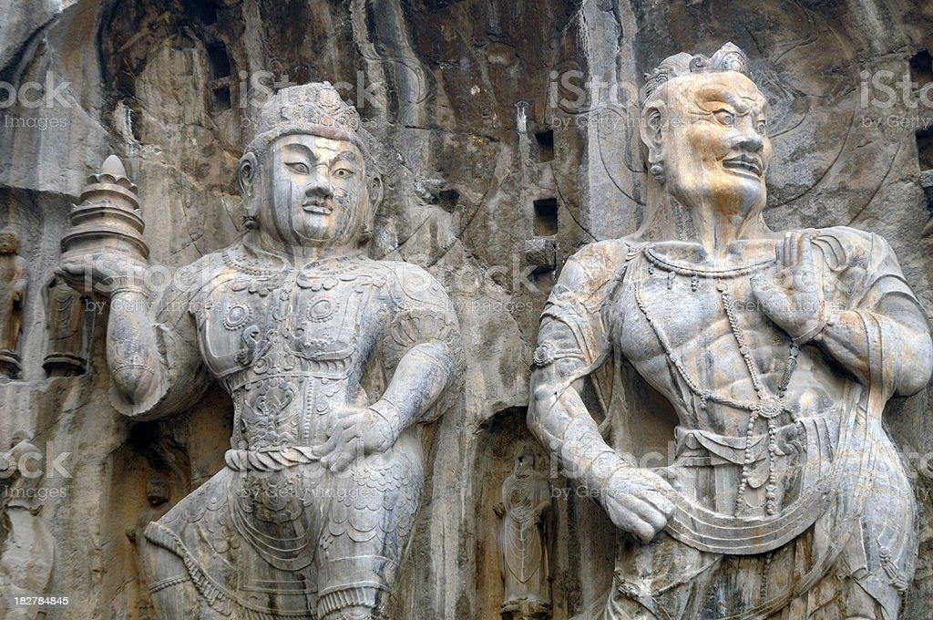 Longmen caves. China royalty-free stock photo