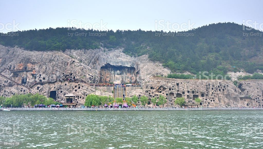 Longmen Grottoes in China's luoyang 02 stock photo