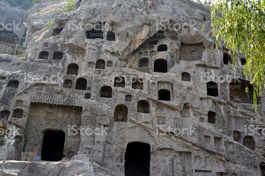Longmen Grottoes, Luoyang, Henan stock photo