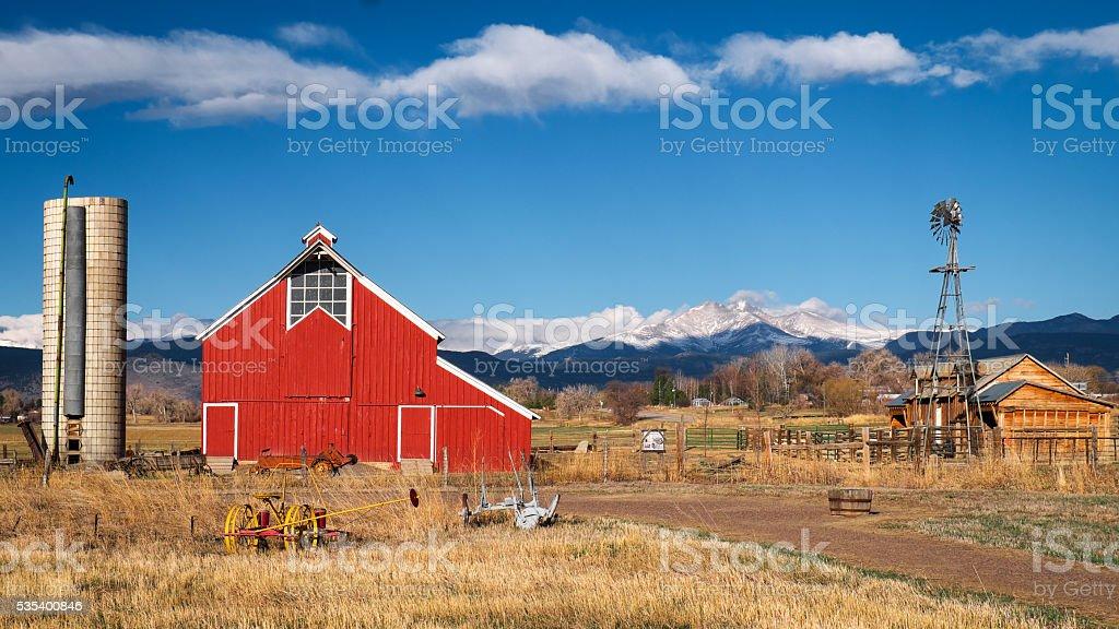 Longmont Barn stock photo