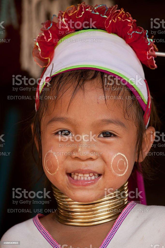 Long-neck Karen Hill tribe. stock photo