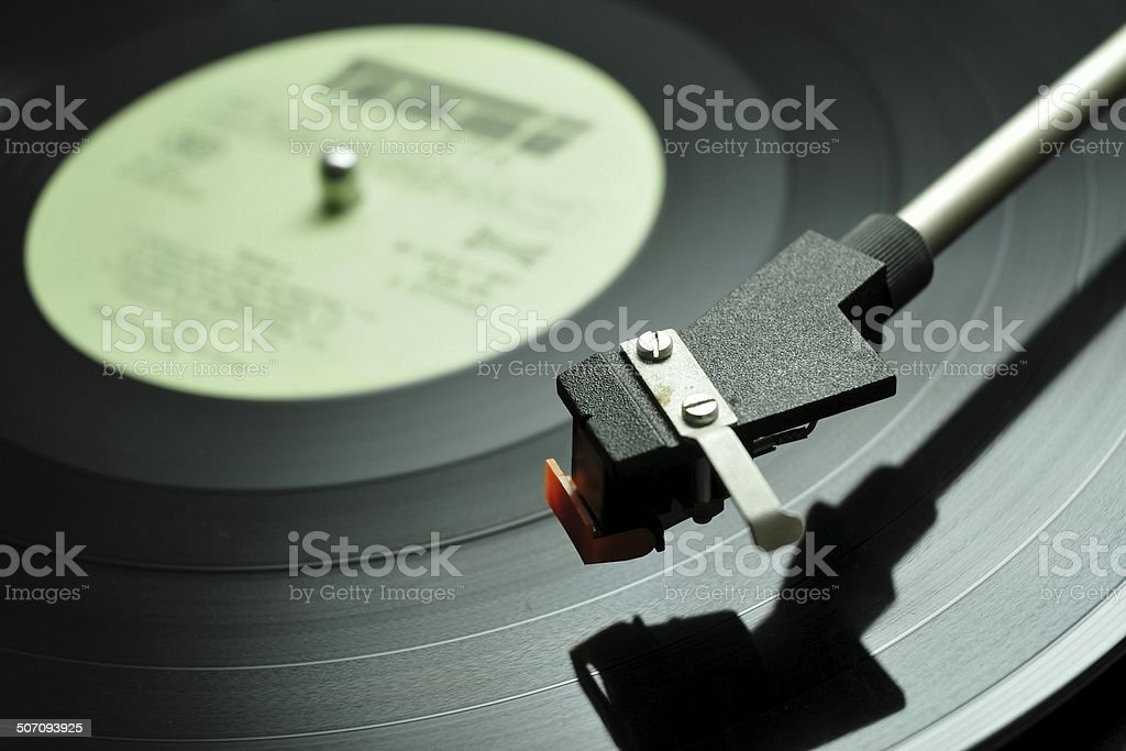 Long-playing music record stock photo