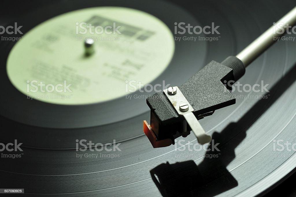 Long-playing music record stock photo
