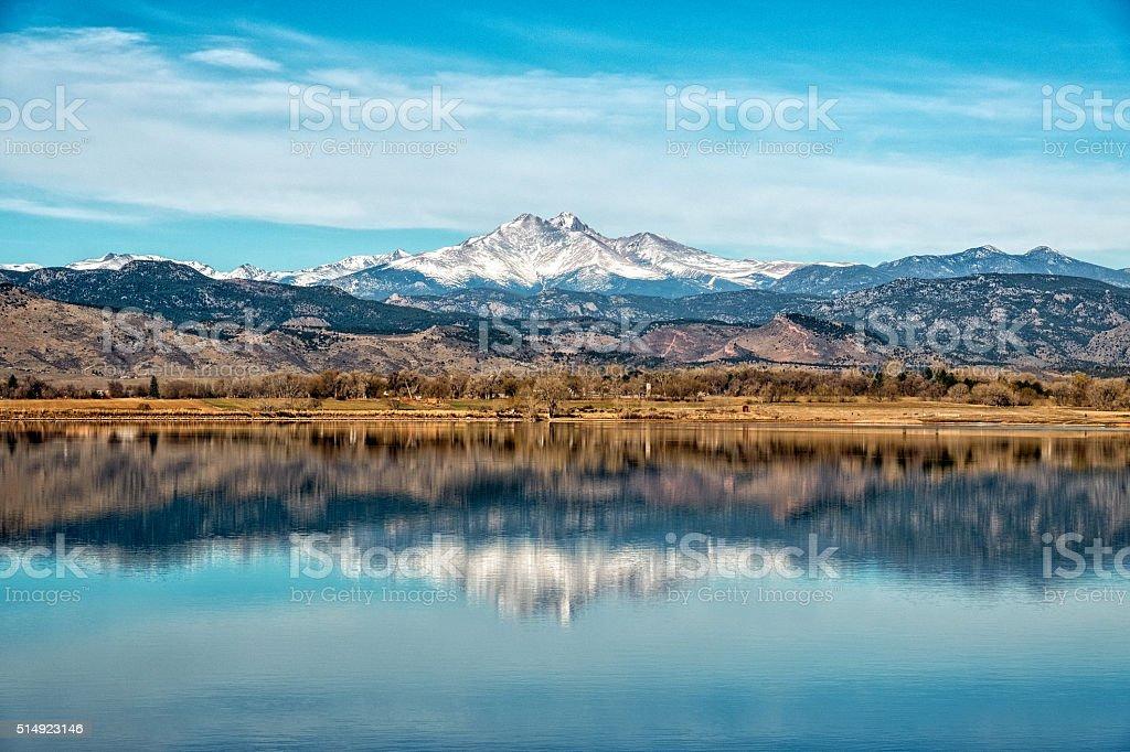 Longs and Meeker Peeks in Colorado stock photo