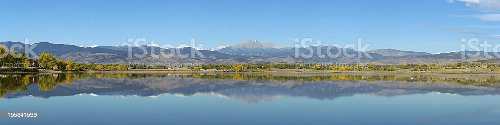 Longs Peak Colorado Wide panorama stock photo