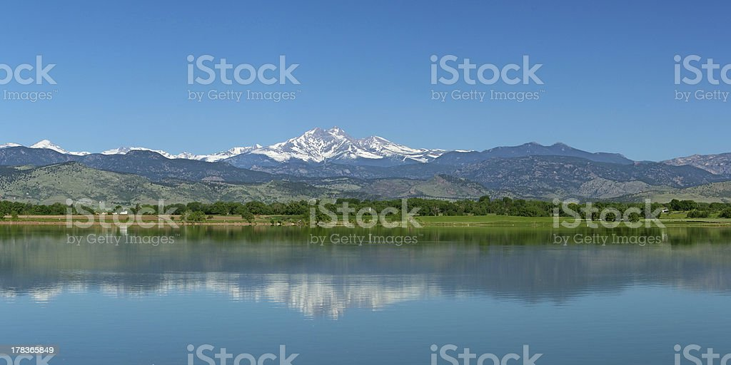 Longs Peak from Longmont, Colorado stock photo