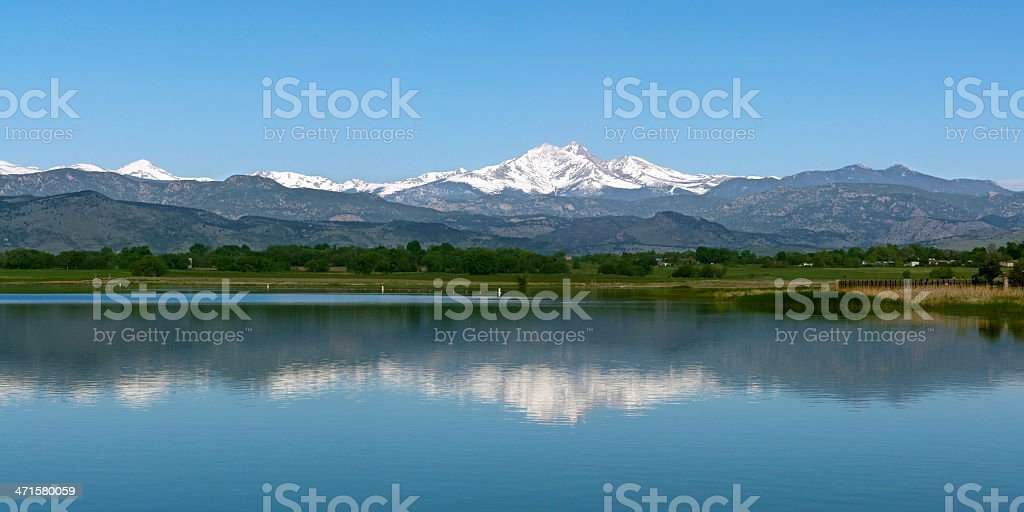 Longs Peak Longmont Colorado stock photo