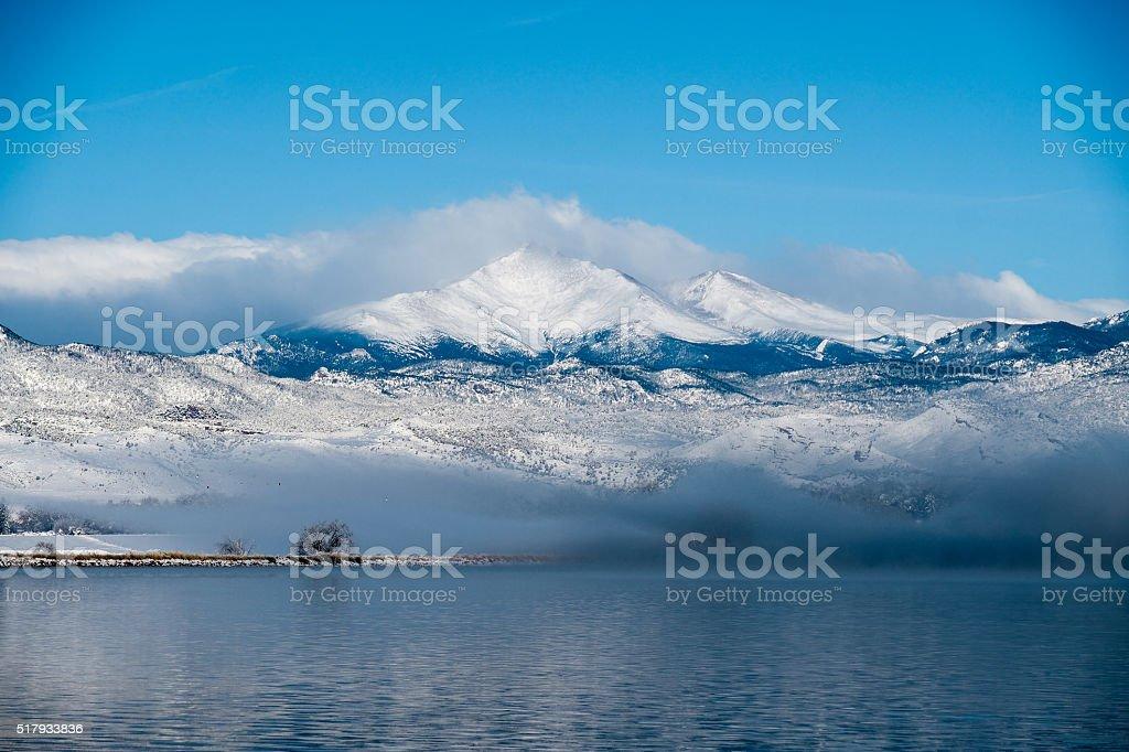 Longs peak Massive in Colorado stock photo