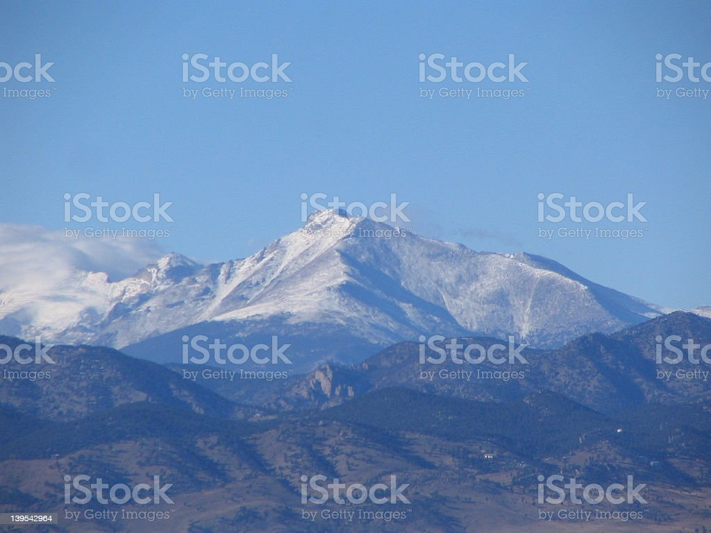 Longs Peak royalty-free stock photo
