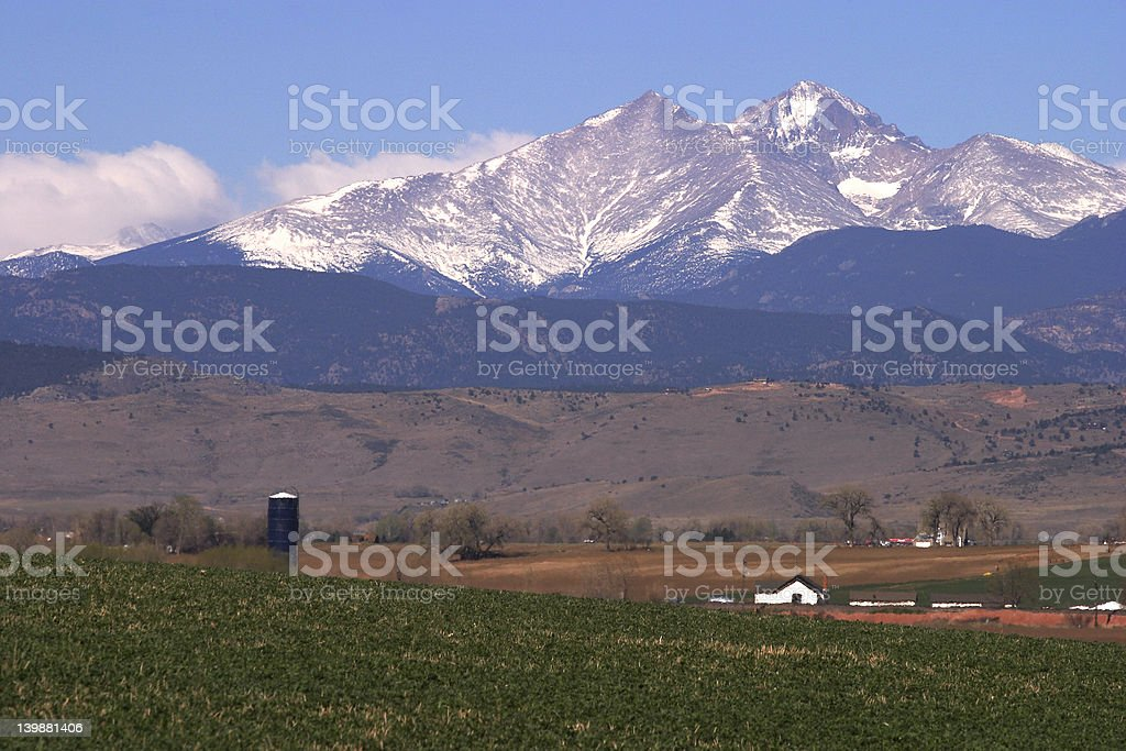 Long's Peak royalty-free stock photo