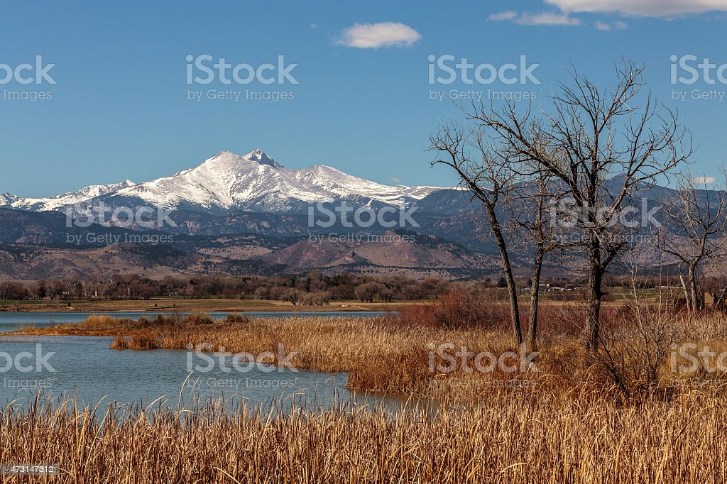 Long's Peak stock photo