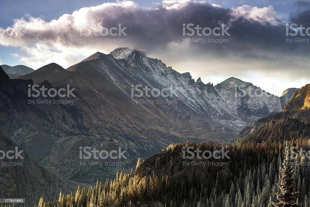 Longs Peak, Rocky Mountain National Park stock photo