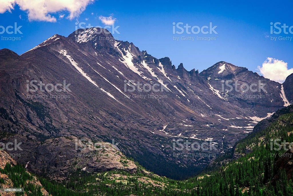Longs Peak, Rocky Mountain National Park foto royalty-free
