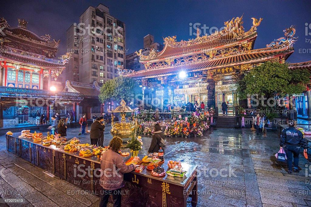 Longshan Mengjia Temple Taipei stock photo