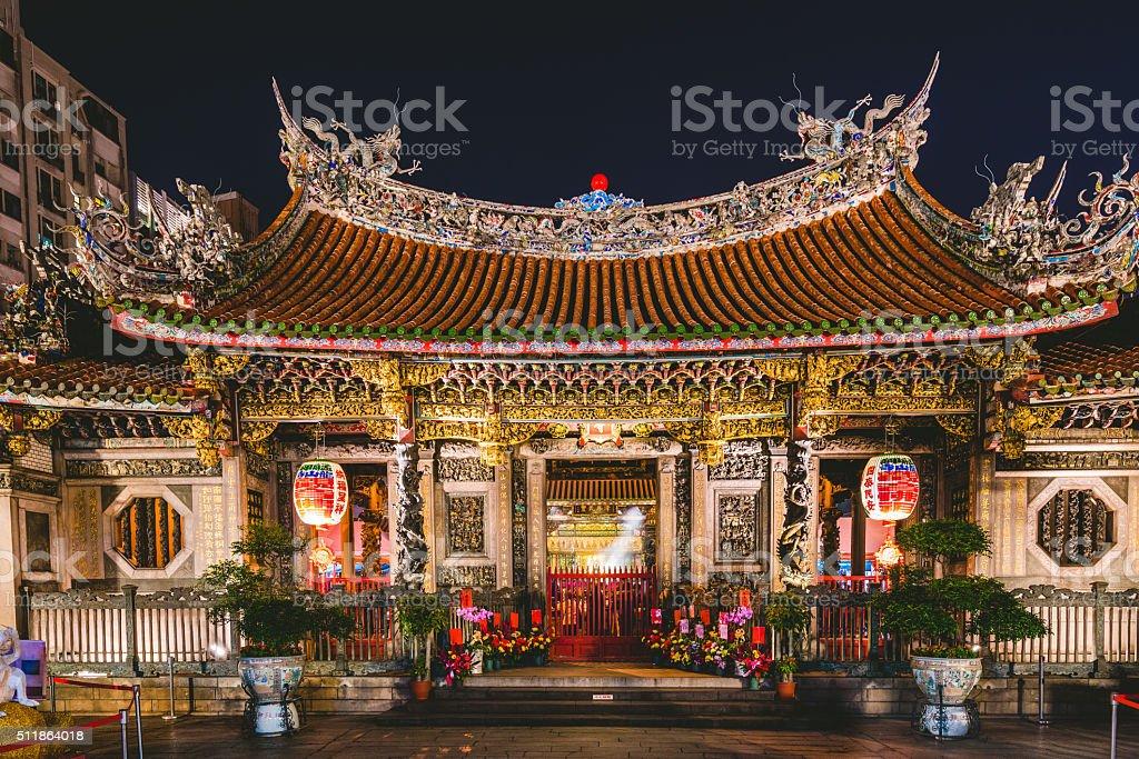 Longshan Temple in Taipei, Taiwan stock photo