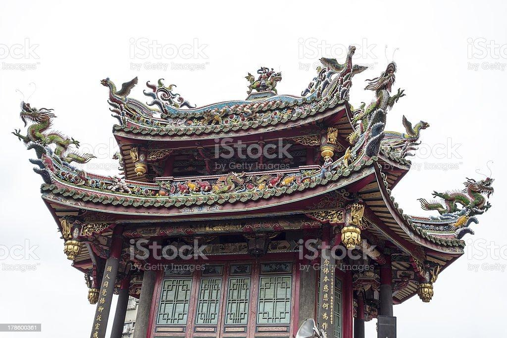 Longshan Temple Pagoda stock photo