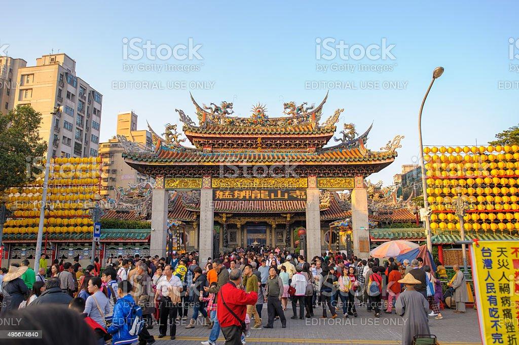 Longshan Temple stock photo