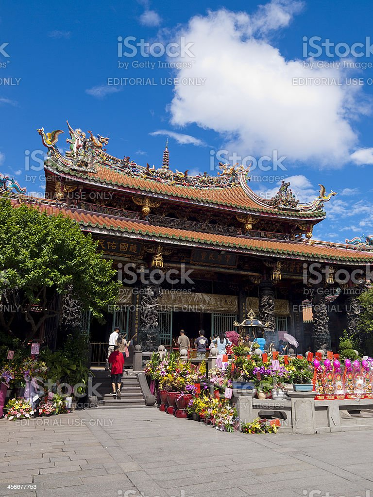Longshan Temple Taipei, Taiwan stock photo
