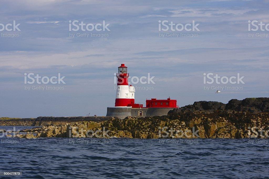 Longstone Lighthouse, Farne Islands, UK stock photo