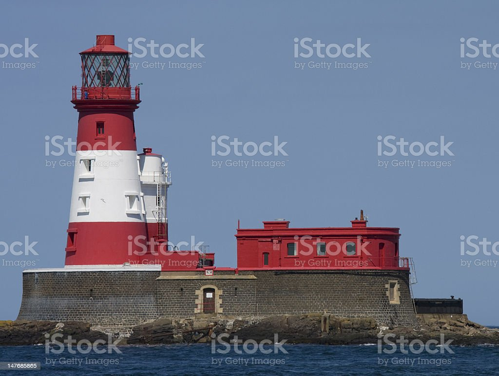Longstone Lighthouse stock photo