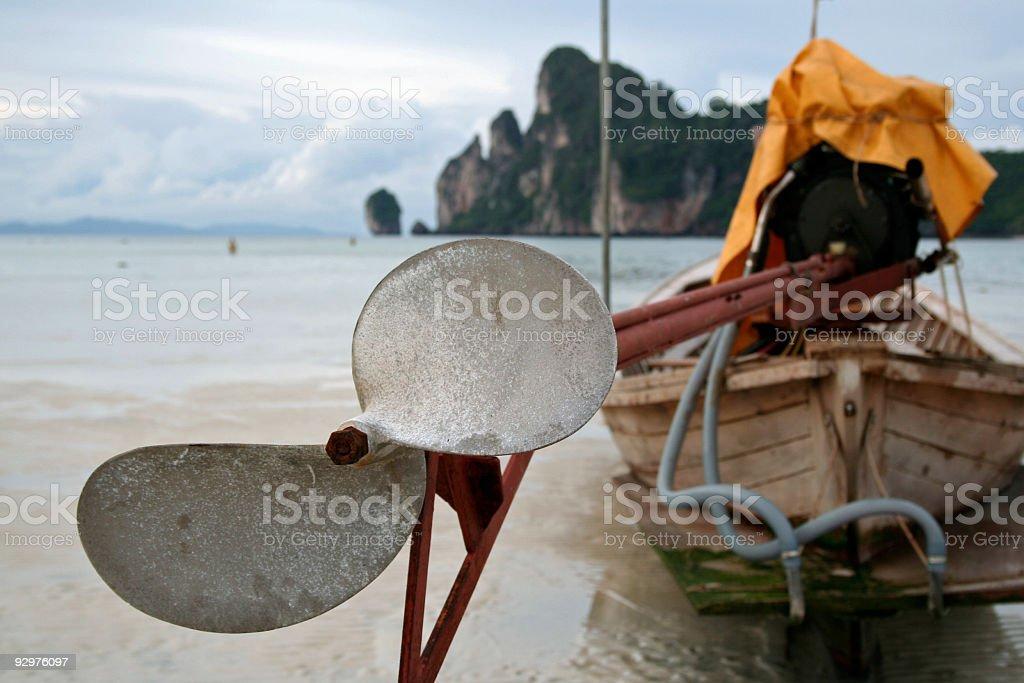 longtail boat detail thailand island beach royalty-free stock photo