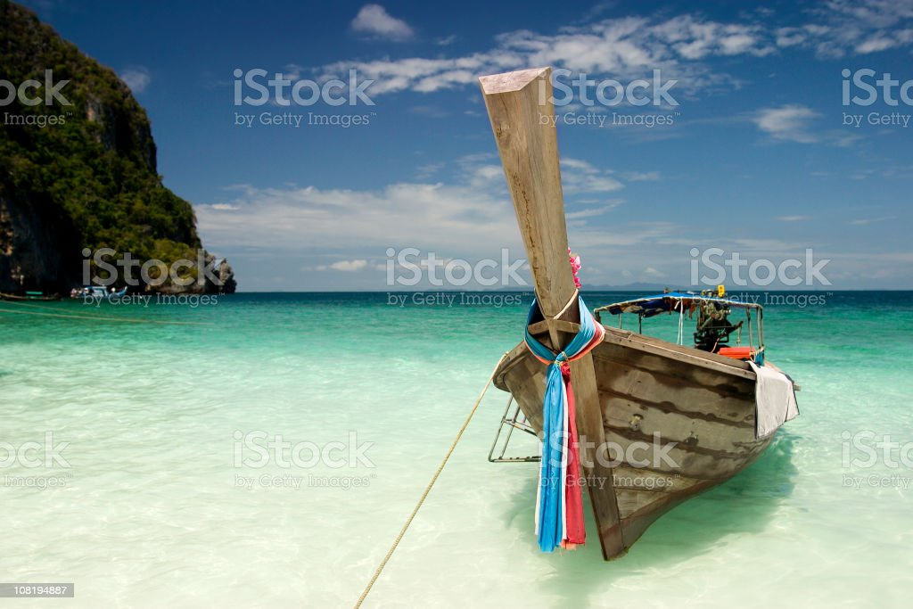 Longtail boat in Thailand royalty-free stock photo