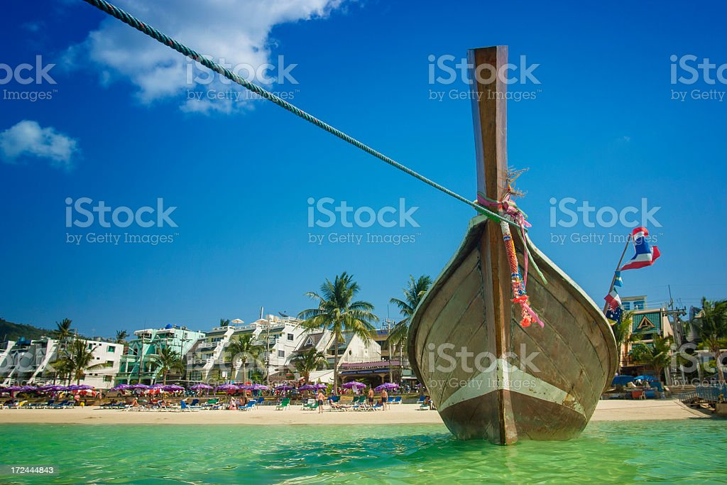 Longtail boat in Thailand stock photo