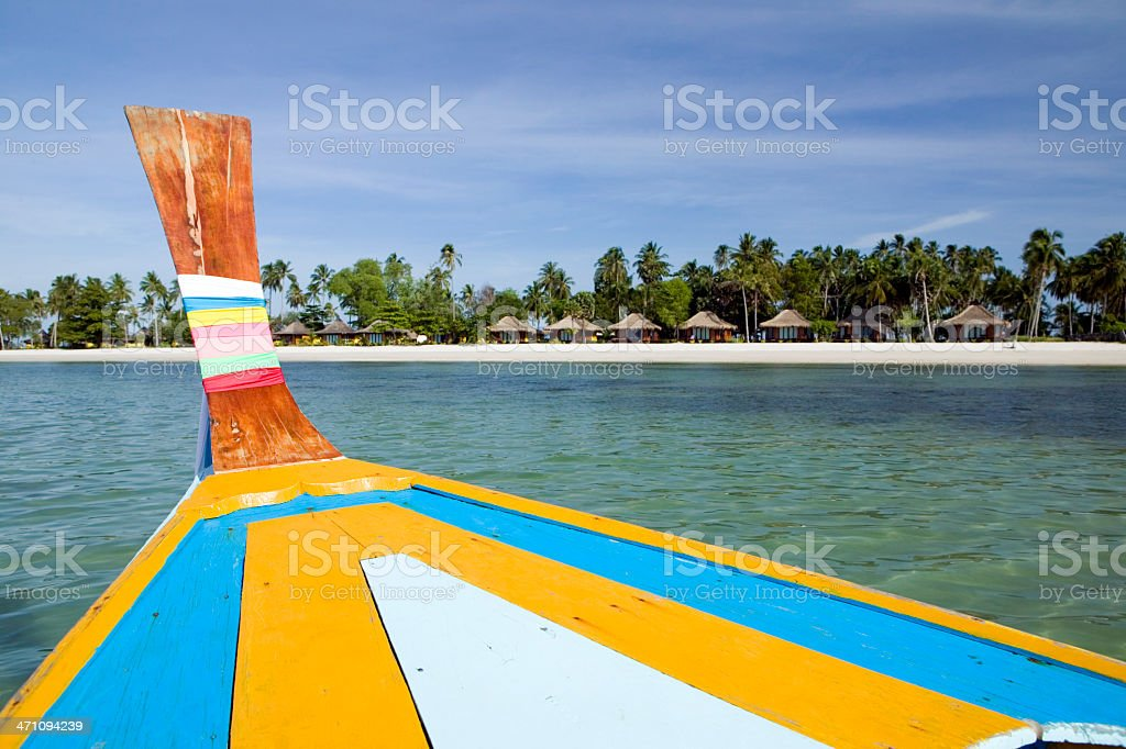longtail boat koh mook trang thailand island stock photo