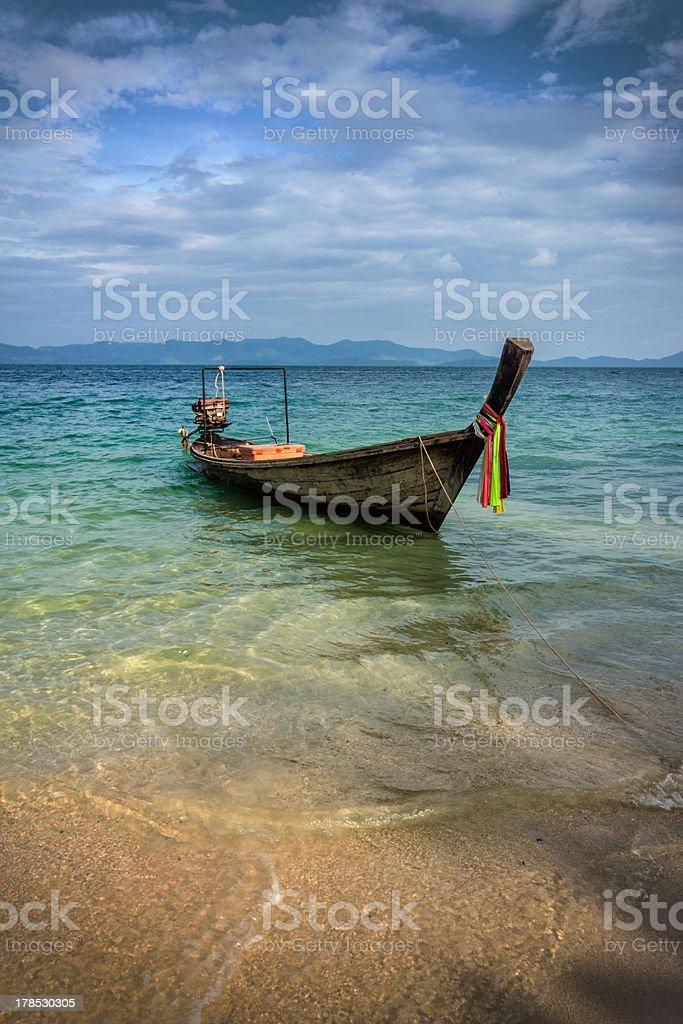 Longtail boat near Phuket, Thailand royalty-free stock photo