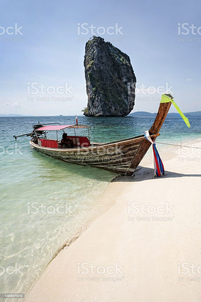 long-tail boat royalty-free stock photo