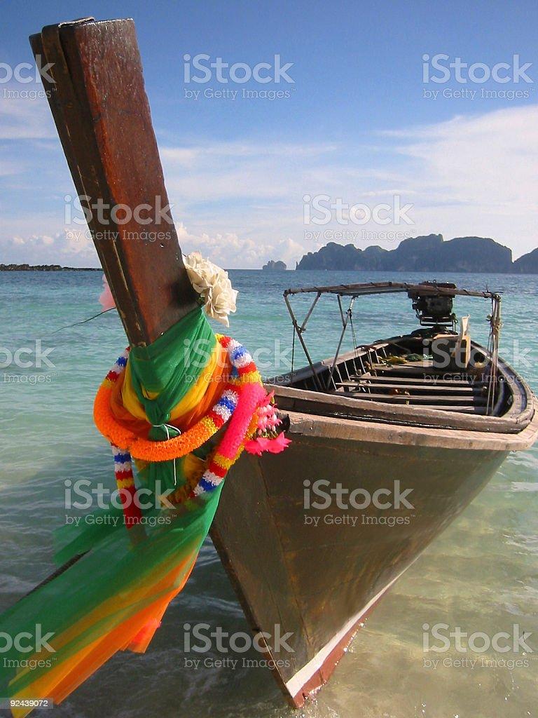 longtail boat thailand royalty-free stock photo