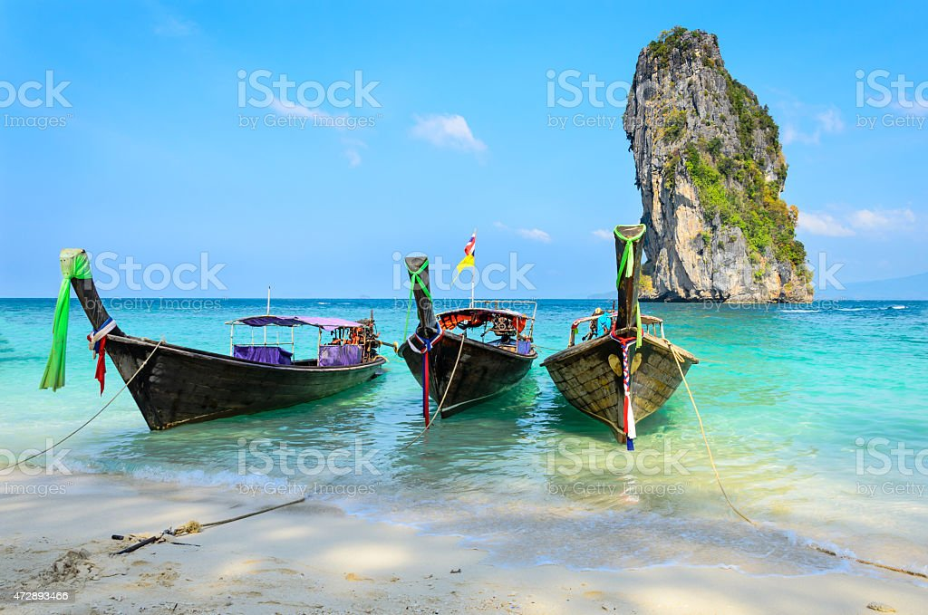 Long-tail Taxi boat stock photo