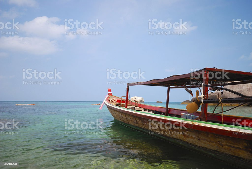 longtail taxi-boat royalty-free stock photo
