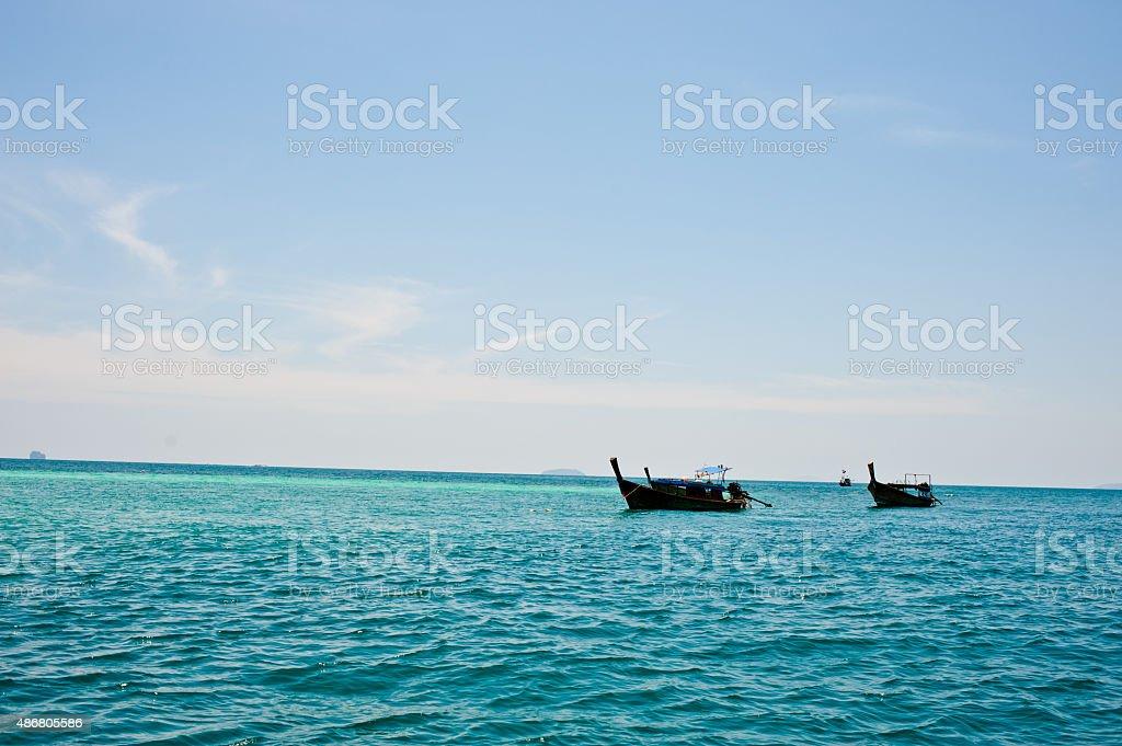 Longtale łodzi w Phuket beach zbiór zdjęć royalty-free