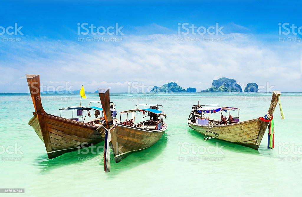 Longtale boat stock photo