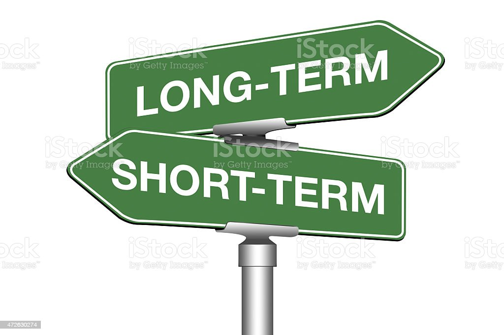 Long-Term and Short-Term stock photo