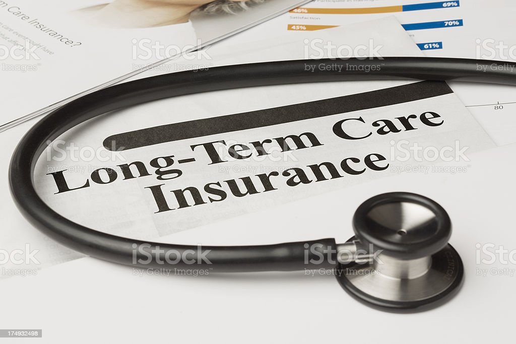Long-Term Care Insurance Policy royalty-free stock photo