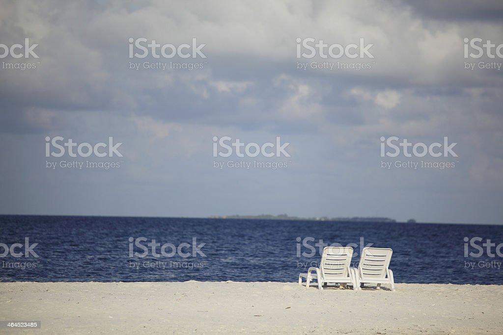 longue on the sea coast royalty-free stock photo