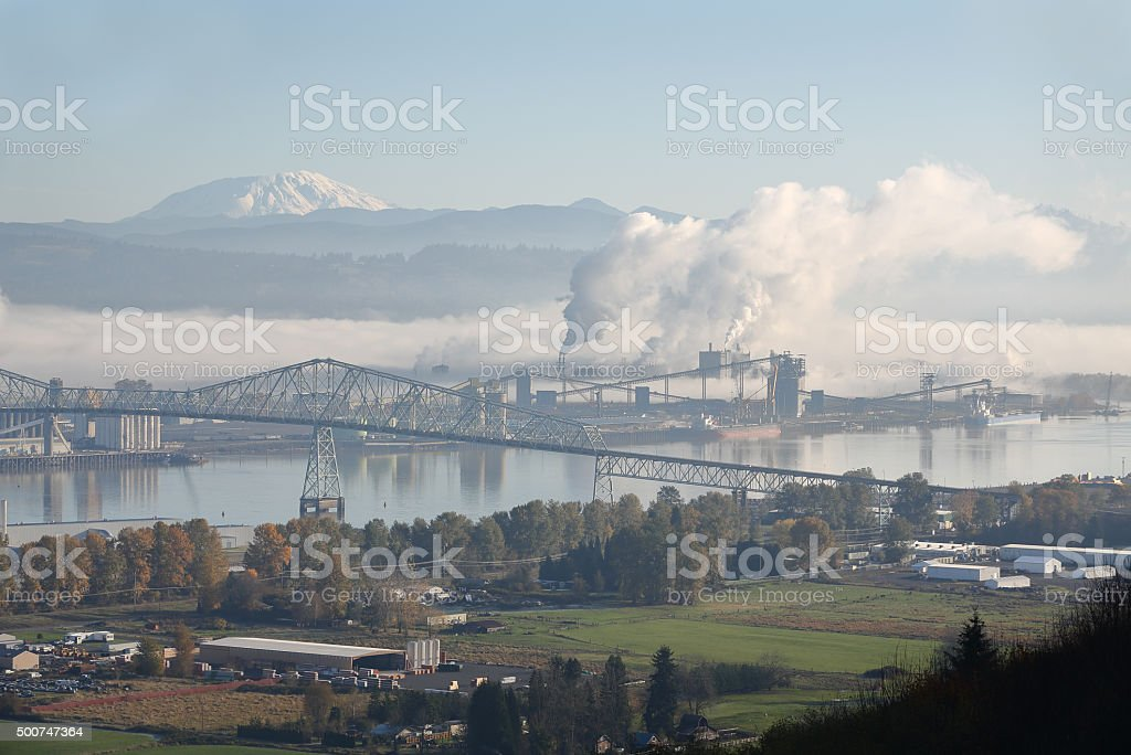 Longview, Washington State, Mount St. Helens stock photo