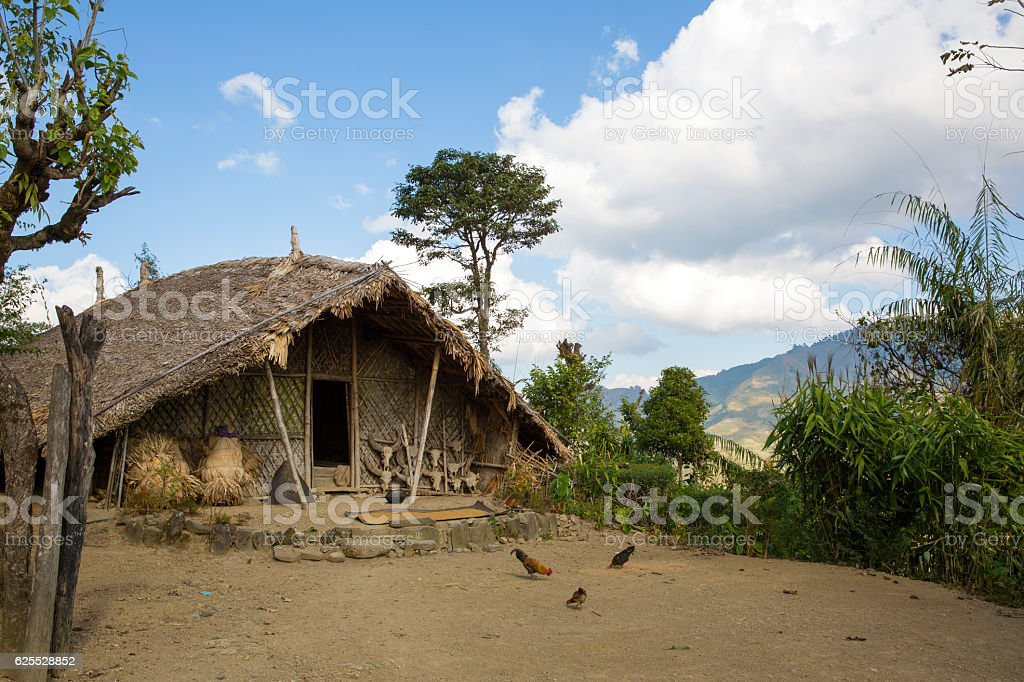 Longwa Village stock photo