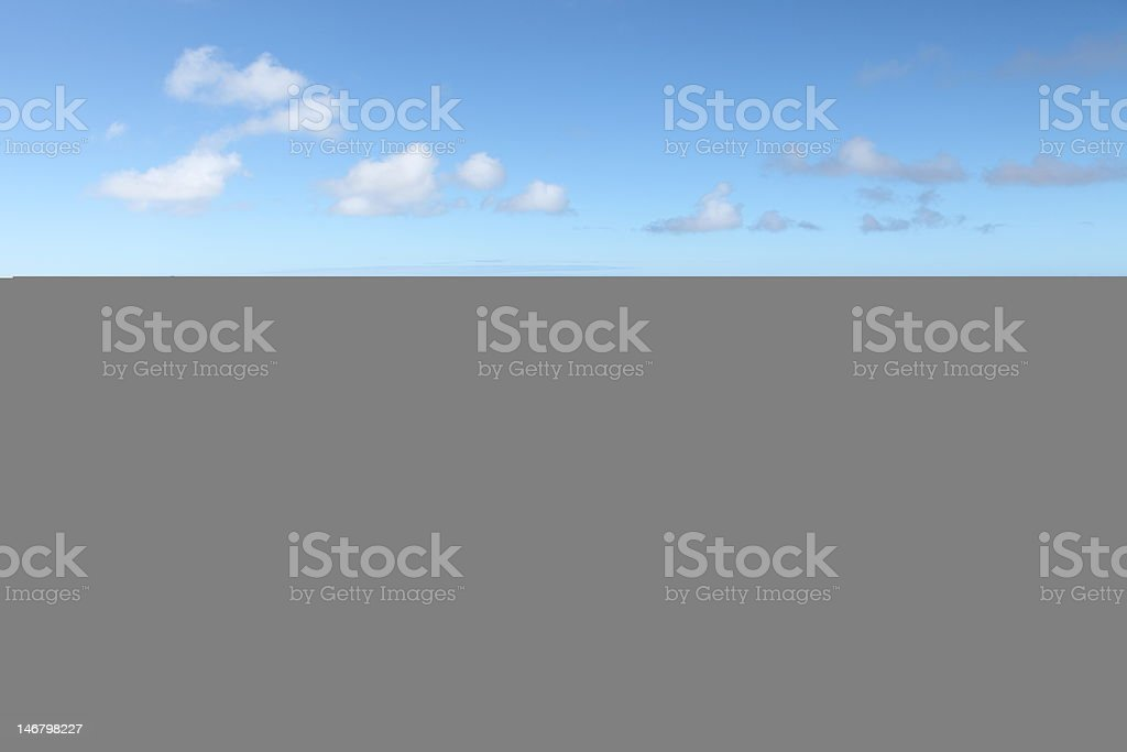 Longwood district and eastern landscape of St Helena Island stock photo
