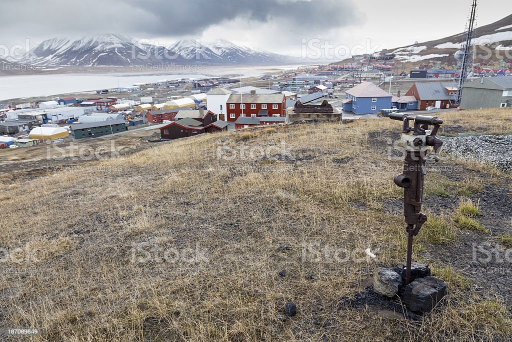 Longyearbyen Svalbard Arctic Norway royalty-free stock photo