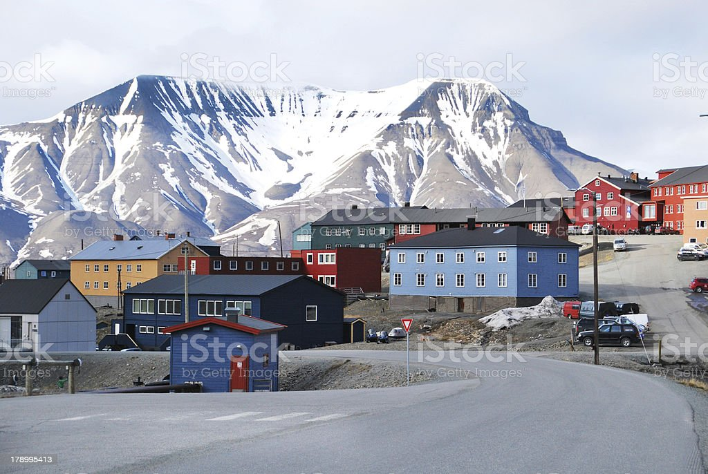 Longyearbyen, Svalbard. stock photo