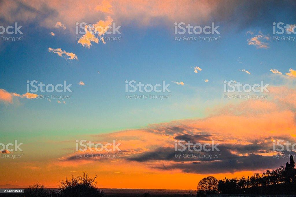 Lonigo's Landscape stock photo