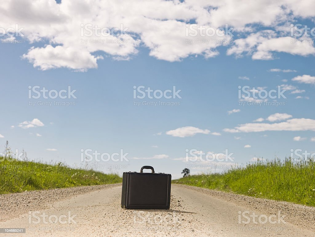 Lonley briefcase royalty-free stock photo